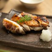 比内地鶏もも肉の山椒焼き