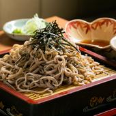 信州長野県産蕎麦粉使用のこだわり蕎麦と懐石仕込みの料理