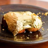 贅沢な気分に浸れそう。金箔をゴージャスにトッピング『金箔たこ焼(能登塩) 6個入り』