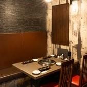 二人でゆったり楽しめる空間で美味しいお肉をお楽しみ下さい。