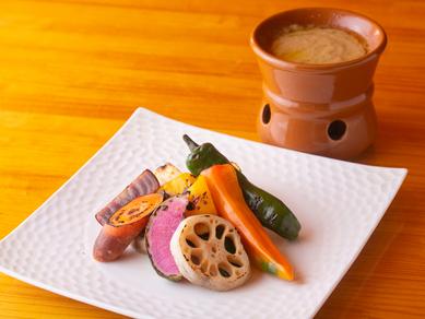 有機野菜のグリルバーニャカウダ