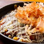 カリカリ食感の麺ととろり玉子でおいしさ爆発!『名物 青じそ肉玉焼き 麺一玉』