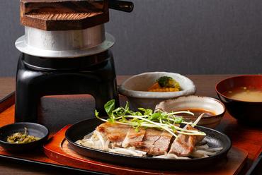 黒豚のステーキ定食