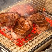 牛たんはもちろん、焼き上げる炭にも厳選素材を使用