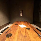 2名から最大8名まで利用可能な掘りごたつの完全個室