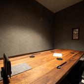 ビジネスの場面にも重宝できる個室