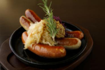 特製ドイツソーセージ3種盛り Three Sausage Platter