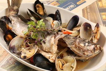本日の魚 アサリのアクアパッツァ