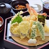 季節のおすすめ御膳「ミニうな丼と天ぷら讃岐ざるうどん御膳」