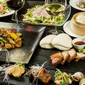 季節の魚介や野菜などと肉料理が入ったコースです