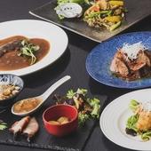 フカヒレの姿煮や鮑などが入った 贅沢なコース