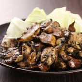 名物料理!鳥取県産香美鶏(こうみどり)の炭焼き鶏盛り!