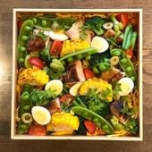 上野原ハーブガーデンのサラダ