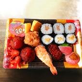 お子様寿司メニューやわさび別添/抜きなど、お好みに応じて。