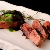 アンガス黒毛牛のサーロインステーキ ~赤ワインソースで~