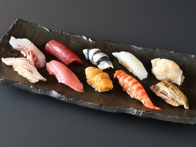秘伝の赤酢を配合したシャリと厳選されたネタで握る江戸前寿司『寿司10貫』