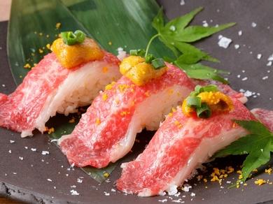 限定商品!乙女牛の特撰肉寿司