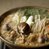 大正15年創業の秘伝特製濃厚スープのあんこう鍋
