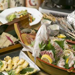 各種ご宴会に一番人気!明石名物の鯛・蛸・穴子をふんだんに使ったお店一押しコースです。