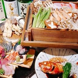 季節の旬のお野菜、鮮魚を豊洲より毎日届く『もったいない食材』を惜しみなく使った豪華絢爛コース。