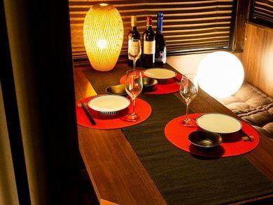 個室やテーブル席やお座敷など選べるお席