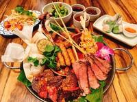 各国のエスニック料理を楽しめる欲張り満足コース。