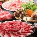 産地直送のお肉をしゃぶしゃぶで当店自慢の出汁とともに!馬肉ユッケやお刺身も味わえるお得な宴会コース
