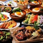 ププスからデザートまでアロハテーブルを詰め込んだお食事メインのコース