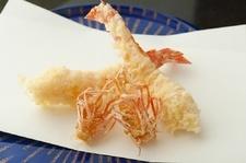 政宗コースでは生け簀から出したばかりの巻海老の天ぷらをご堪能頂けます。*昼の部でもご注文頂けます