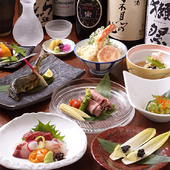 全コース1名様づつの個別盛りでお料理をご提供致します。+1,000円で120分飲放付にできます!